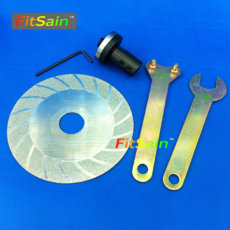 FitSain--Applicable to motor shaft diameter 5mm/6mm/8mm/10mm for Electric 4 Diamond Cutting Disc 100mm<br><br>Aliexpress