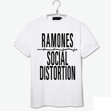 brand new the ramones white zombies vintage vogue high quality cotton t shirt punk fashion new arrival(China)