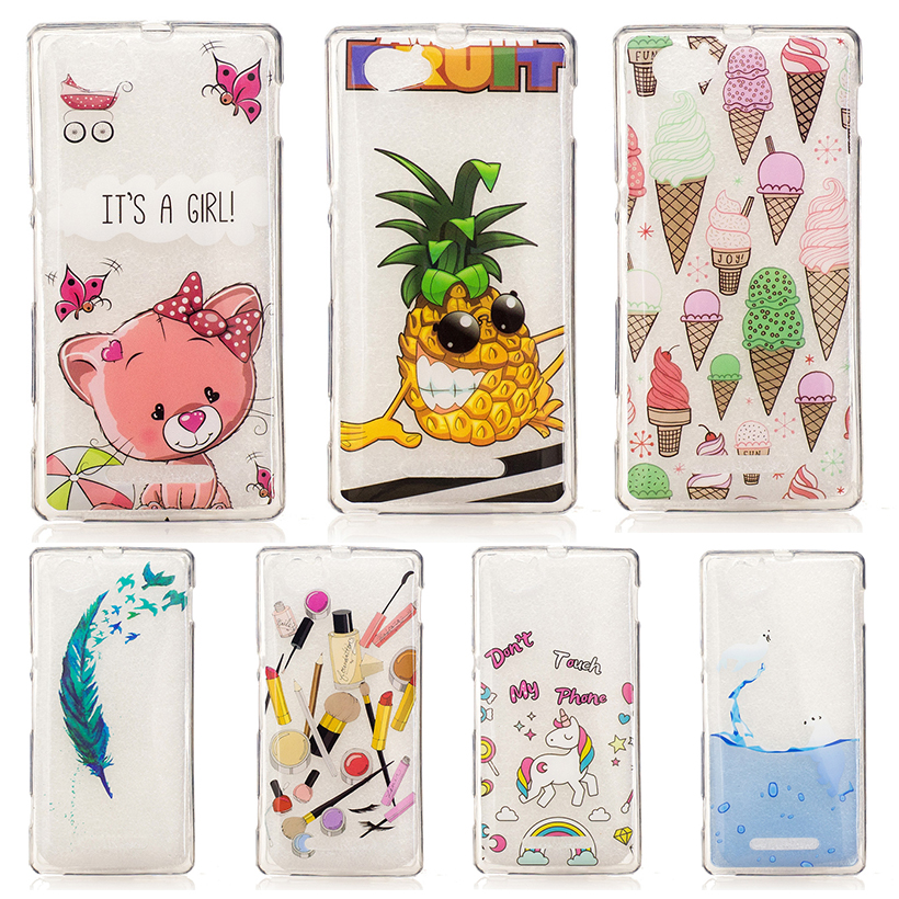 Silicone Phone Cover Cases Sony Xperia M Dual C1905 C1904 C2005 C2004 4.0 inch Cellphone Painted TPU Covers Housing Skin