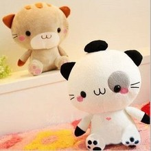 Aeruiy cute high quality Japan big face kitty cat,plush kawaii cat toy doll,creative birthday & graduation gift for children,1pc(China)