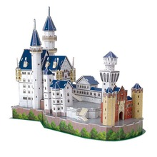 3D Building Architectural New Swan Stone Castle Model for Boys Girls Puzzle Childrens Early Development Floor Games Toy(China)