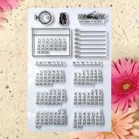 Записки DIY карт фото учетной записи штамп закончил прозрачный главе календарь 11*16