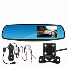 2PCS wholesale best Dashboard cameras accident recorders front and rear facing camera system dual channel(China)