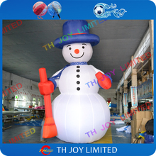 free air shipping to door,4m/6m Christmas x-mas ornament decoration outdoor large inflatable snowman with broom
