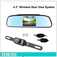 "Universal Vehicle reverse security parking assistance System,wireless Car Backup rearview camera+4.3""display Rear View monitor"