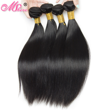 Mshere Hair Company Peruvian Straight Hair 100% Peruvian Human Hair Bundles Non Remy Hair Extentions Natural 1B Thick and Full