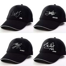 c332a1f0a3058 Hat BTS Baseball Cap Snapback Hats Signature JUNGKOOK SUGA JIN JIMIN J-HOPE  V RAP