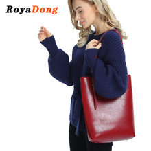 RoyaDong 2018 New Women Bags Handbags Vintage Pu Leather Shoulder Bags For Female Big Tote Bag High Quality Women Messenger Bag(China)
