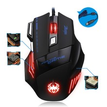 ZELOTES T80 USB 7200DPI Wired Optical Backlight Gaming Mouse Support