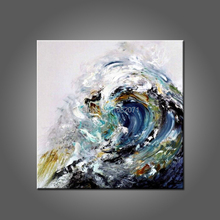 Strong Painter Team Handmade High Quality Abstract Seascape Oil Painting Waves Oil Painting On Canvas For Wall Decoration(China)