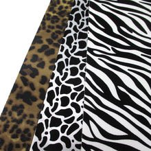 20*34cm leopard tape short velvet Synthetic leather fabric cut direction random,size has a little errors,1Y56369(China)