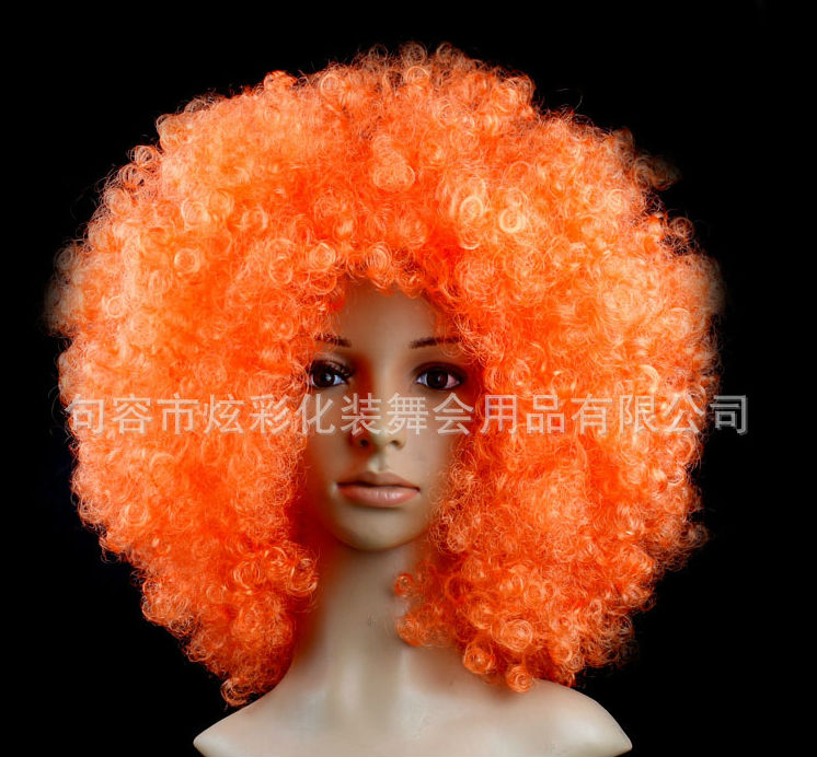 Halloween party afro wigs colorful christmas cosplay hairs clown funny wig new brazil football fans wigs<br><br>Aliexpress