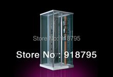 Square luxury steam shower enclosures bathroom steam shower cabins jetted massage walking-in sauna room RS8036(China)