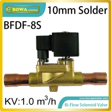 10mm solder type Bi-flow solenoid valves optimize pipeline design of  heat pump air conditioner and constant temperature machine