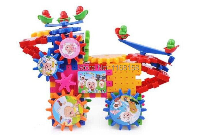 Free shipping,Certificate Educational Toys Child Assembling Building Electric Electronic Blocks Plastic Cartoon Figure 81 pcs<br><br>Aliexpress