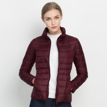 COMLESS New Arrival 20 Colors Size S-3XL Spring Autumn Women Fashion Ultra Light Jacket Soft Warm Stand Collar Thin Jacket XXXL(China)
