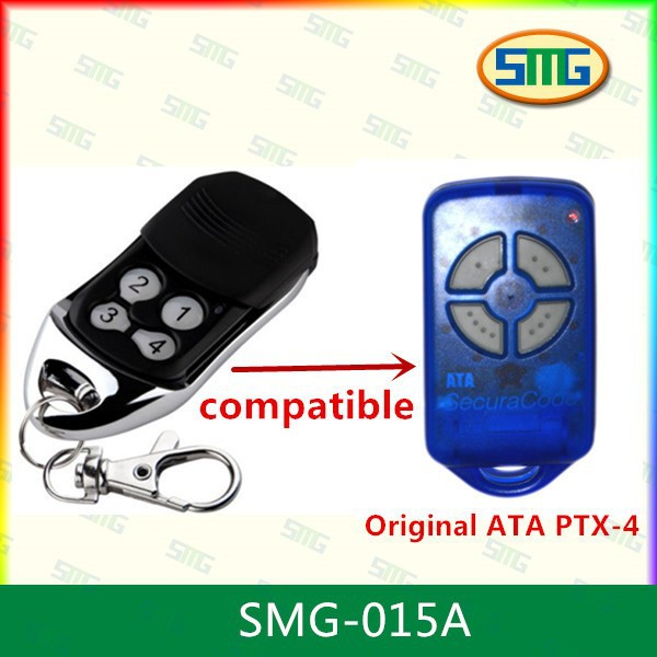 5x factory whole sales ATA compatible remote ,rolling code 433.92mhz ,100% compatible PXT-4(China (Mainland))