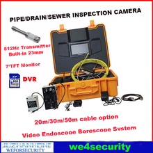 512Hz Transmitter Pipe Locator SEWER PIPE DRAIN CLEANER INSPECTION SNAKE Video CAMERA W/ Sonde 50m Cable SD Card 8GB(China)