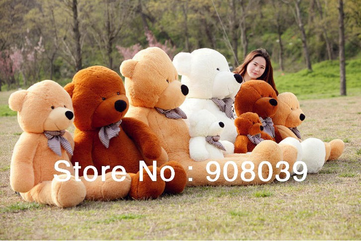 PROMOTION High quality lovely Plush toy soft stuffed animals 80cm teddy bear big embrace Christmas birthday gift(China)