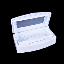 1Pcs Pro Nail Art & Makeup Tools Sterilizer Box White Disinfection Layer Sterilizing Tray Manicure Beauty Salon Clean Equipment