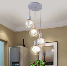 Contracted and contemporary, wrought iron birdcage chandelier creative restaurant bedroom hotpot restaurant diamond single head
