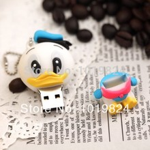 Real capacity USB 2.0 Memory Stick Flash pen Drive 8GB 16GB USB Flash 2.0 Memory Drive Pen/Thumb/Car  Cartoon duck S243 no chian
