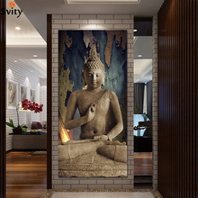 Free shipping buddha art canvas Wall art buddha Picture landscape Canvas painting Modern living room Decorative(China)