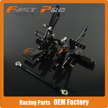 CNC Motorcycle Adjustable Billet Foot Pegs Pedals Rest For KAWASAKI ZX6R ZX-6R ZX 6R 1998 1999 2000 2001 2002