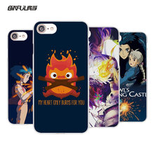 BiNFUL Studio Ghibli Howl's Moving Castle Style hard White Mobile phone shell Case for Apple iPhone 7 7Plus 6s 6 Plus SE 5 5s 5C(China)