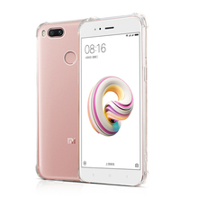 For Xiaomi Mi A1 MiA1 Air Cushion Shockproof Case Flexible Silicone TPU Crystal Clear Premium Full Protection Phone Cover