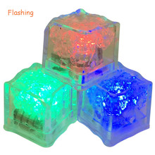 12pcs/lot Flashing Waterproof Light Up LED Ice Cubes Lamps Wedding Beverage Party Cocktails Themed Sporting Decorations