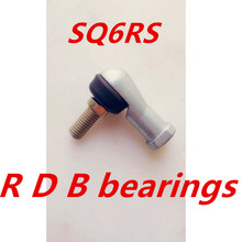 2 pcs SQ6RS SQ6 M6X1.0 female metric threaded Winding Ball Joint right hand tie rod end bearing