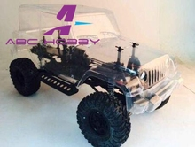 1/10 RC 4x4 Wrangler Rock Crawler truck Body For Axial SCX10 RC4WD D90 JEEP Wheelbase280mm