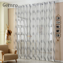 Gernro Curtain 1 PC Silver Wave Curtains for Bedroom Free Shipping Tulle of Window Curtains for The Living Room Kitchen Yarn(China)