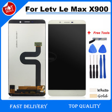 White/Gold For Letv X900 LCD Display+Touch Screen 100% tested Screen Digitizer Assembly 2560x1440 for Letv X900 Cell Phone(China)