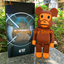 11inch  400% bearbrick Bear@brick BABY MILO BAPE Art Figure gloomy bear Action Figure Collectible Model Toy DE206