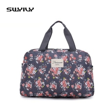 SWYIVY 2017 New Waterproof Gym Bag Multi-Functional Sports Bag Travel Bags Flower Printed Collapsible Bag Big Size