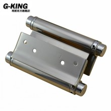 Promotion spring hinge free door hinge bidirectional sliding door spring 5 inch inside and outside door accessories(China)