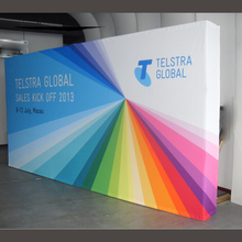 10ft straight tension fabric trade show display banner pop up booth exhibit with graphic printing