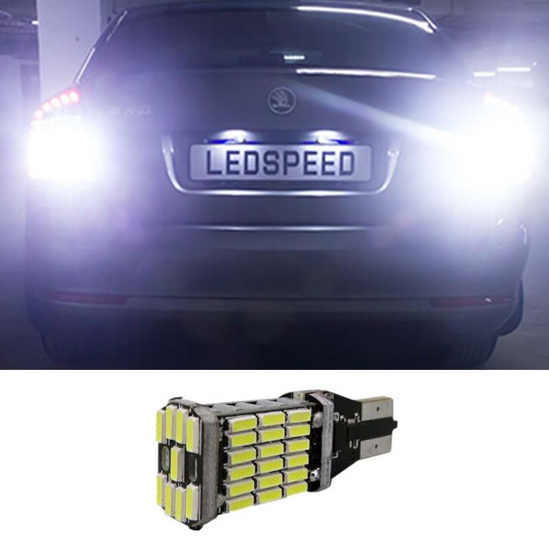 1pcs Canbus Error Free T15 W16W 921 Car LED Lights Backup Reverse Lights for Skoda Superb<br><br>Aliexpress