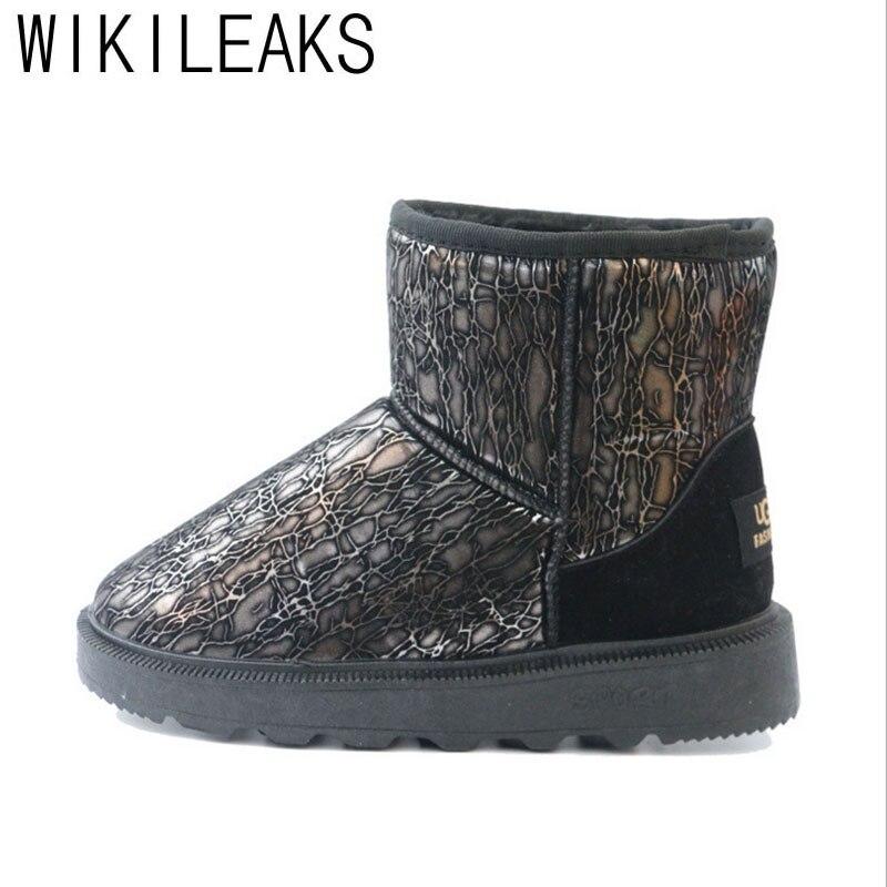 Wikileaks Winter Snow Boots Women Black Cotton Fabric Warm Plush Shoes Woman Casual Platform Flat Ankle Plus Size Non-Slip Boots<br><br>Aliexpress