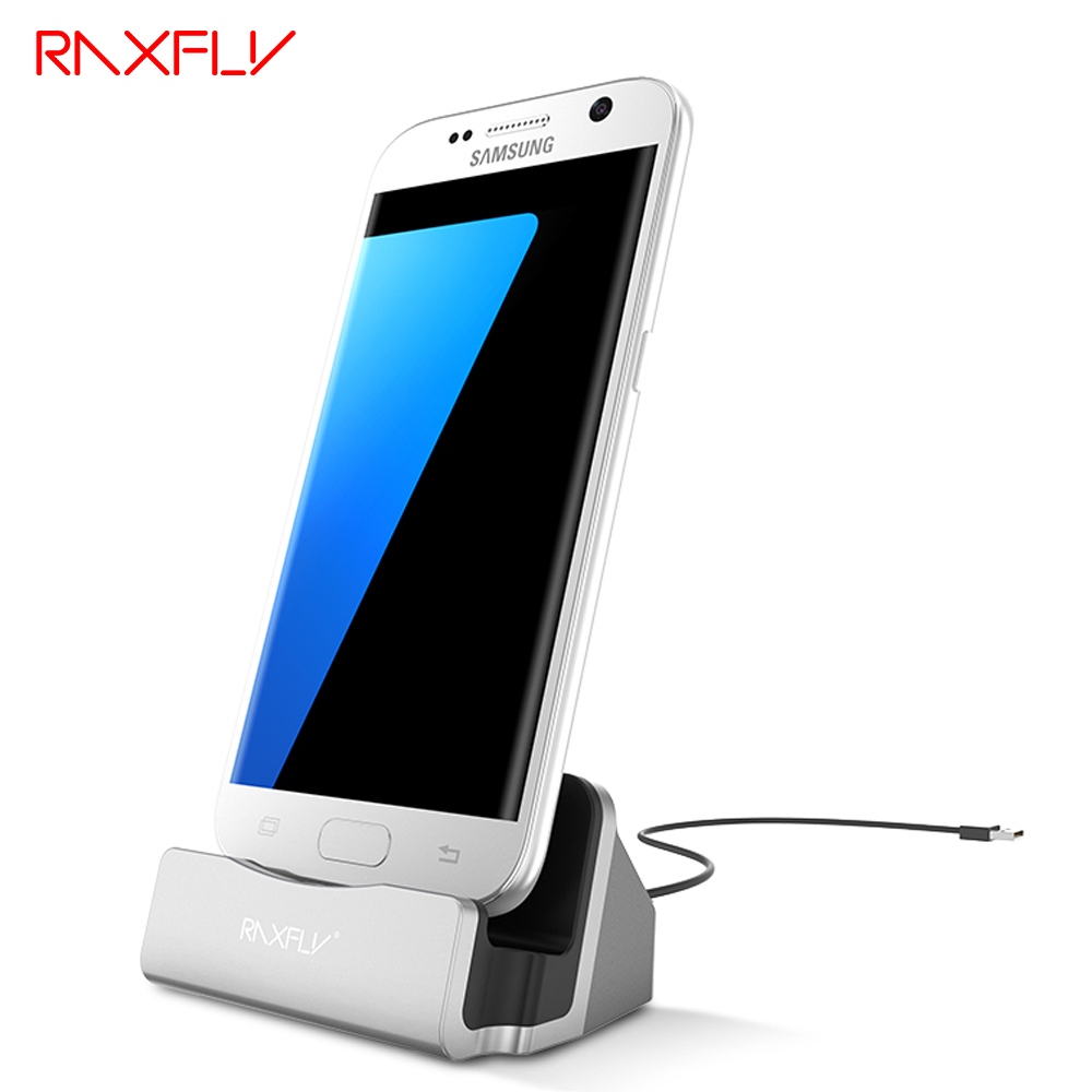 RAXFLY Android Micro USB Charge Phone Holder For Samsung Huawei Mate Xiaomi Oneplus Blackview HTC LG Sync Cable Dock Accessories(China)