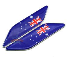 50 pairs Aluminum Alloy National Australia Flags Car-styling Emblems Decoration Australia Flag Car Side Stickers Badge Accessory