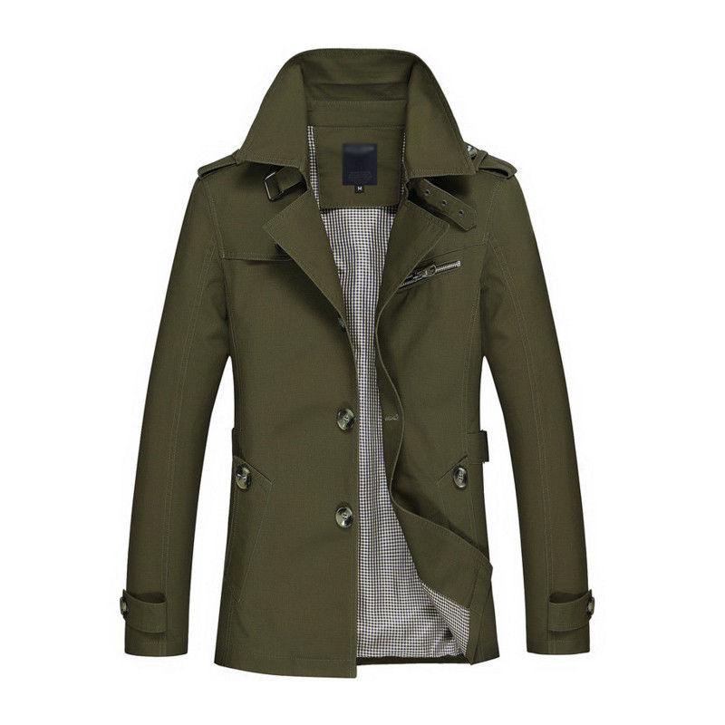 Korean Overcoat Khaki Black PLus size XXXL XXXXL 5XL british style Slim fit trench coat long men New Spring 2017 man Windbreaker (2)