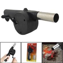 Useful Outdoor Useful Hand Crank Barbecue Fan Air Blower Cooking BBQ Briquettes Black Quality Air Blower
