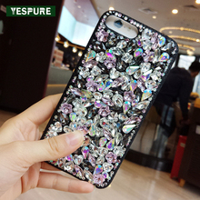 YESPURE Jewelry Luxury Handphone Case Covers Women Bling Glitter Shinning Phone Case for IPhone 6plus/6splus Fashion Fundas Para(China)