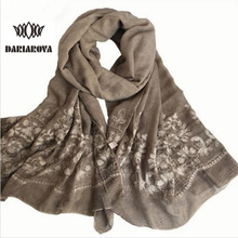 [DARIAROVA]200*95 CM Japan Ethnic Floral Embroidery Scarf Women Long Cotton Viscose Scarves Lady Beach Hijab Shawl Foulard Cape(China)