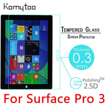 "For Microsoft Surface Pro 3 12"" 9H 0.3mm Tempered Glass Film Toughened Tablet PC Explosion-Proof Screen Protector Cover"