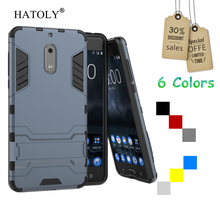 HATOLY For Cover Nokia 6 Case Silicone Robot Armor Shockproof Rugged Rubber Slim Hard Phone Case for Nokia 6 Cover for Nokia 6
