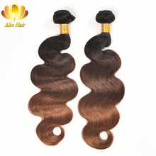 Ali Afee Ombre Brazilian Body Wave Hair Extension T1B/4/30 3 Tones Non Remy Cheap Human Hair Bundles Can Buy 3 or 4 Bundles(China)